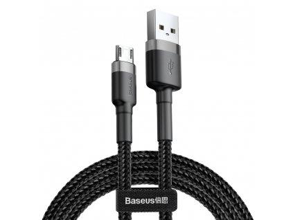 Baseus Cafule USB kabel - Micro USB / 3m / 2A černo-šedá CAMKLF-HG1