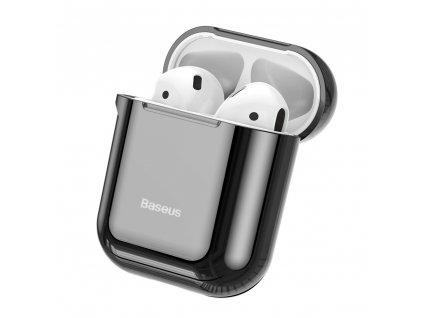 Baseus silikonové pouzdro pro Apple AirPods 1/2 černé / lesklé ARAPPOD-A01