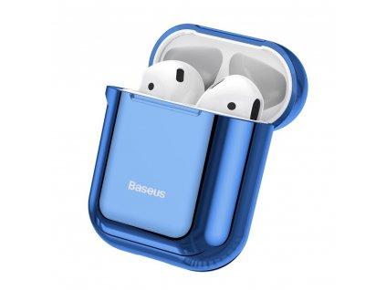 Baseus silikonové pouzdro pro Apple AirPods 1/2 modré / lesklé ARAPPOD-A03