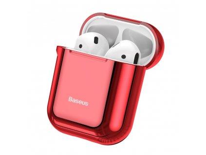 Baseus silikonové pouzdro pro Apple AirPods 1/2 červené / lesklé ARAPPOD-A09