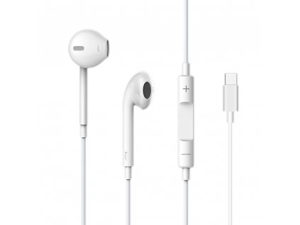 Devia SMART EarPods sluchátka s USB-C bílé