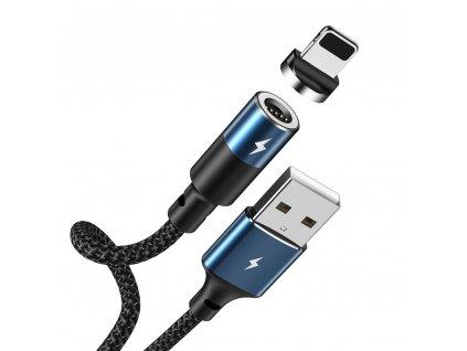 REMAX Zigie RC-102i magnetický USB kabel pro iPhone 5/6/7/8/X lightning černý, 3A / 1,2m