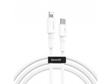 Baseus Mini kabel USB-C PD / Apple Lightning 18W / 1m / QC 3.0. white CATLSW-02