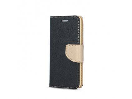 Smart Book pouzdro Samsung A20e černá / zlatá (FAN EDITION)