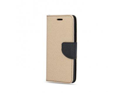 Smart Book pouzdro Samsung A20e zlatá / černá (FAN EDITION)
