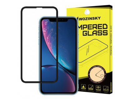 Wozinsky Full Glue 5D tvrzené sklo iPhone XR / iPhone 11 zakřivené černé 7426825354181