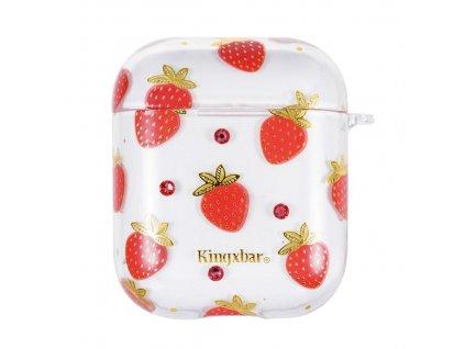 Kingxbar silikonové pouzdro pro Apple AirPods 1/2 strawberry red