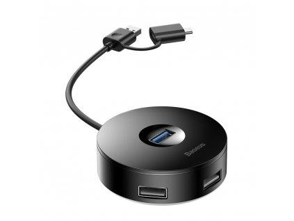Baseus CAHUB-BG01 HUB USB 3.0 / USB-C - 4 x USB rozbočovač černý 0,12metru