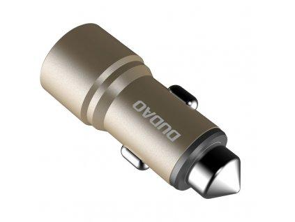 Dudao R5 USB nabíječka do auta 2x USB / 2,4A zlatá