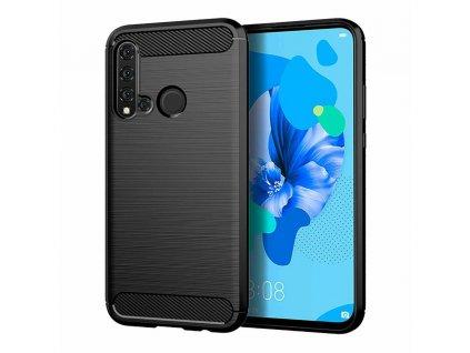 Pouzdro Carbon Case pro Huawei P20 Lite 2019 / Nova 5i černé