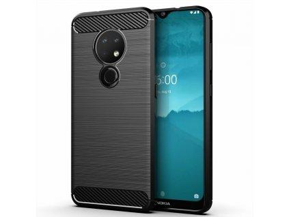 Pouzdro Carbon Case pro Nokia 6.2 / 7.2 černé