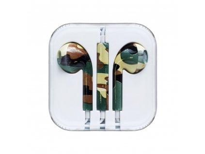 OEM sluchátka s ovládáním EarPods style pro iPhone 5/5C/5S, 6/6S, 6+/6S+ camouflage