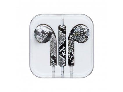 OEM sluchátka s ovládáním EarPods style pro iPhone 5/5C/5S, 6/6S, 6+/6S+ snake