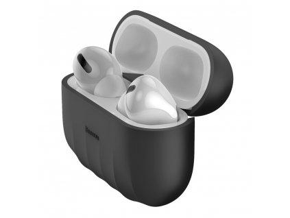 Baseus silikonové pouzdro pro Apple AirPods PRO černé WIAPPOD-BK01