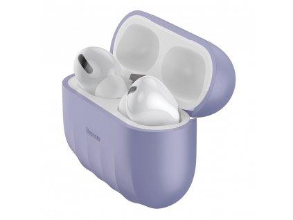 Baseus silikonové pouzdro pro Apple AirPods PRO violet WIAPPOD-BK05