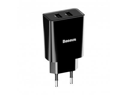 Baseus nabíječka 2x USB 2,1A / 10,5W CCFS-R01 černá