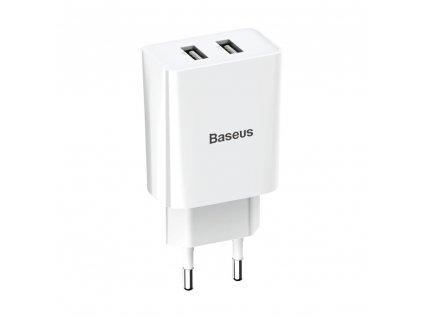 Baseus nabíječka 2x USB 2,1A / 10,5W CCFS-R02 bílá