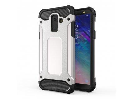 Hybrid Armor Case odolné pouzdro pro Samsung A600 Galaxy A6 2018 stříbrné