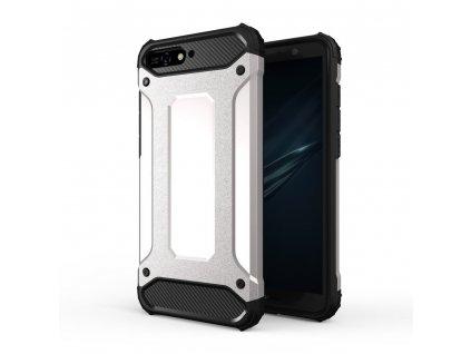 Hybrid Armor Case odolné pouzdro pro Huawei Y6 2018 stříbrné