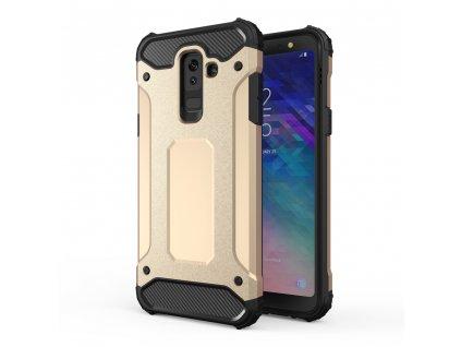 Hybrid Armor Case odolné pouzdro pro Samsung A605 Galaxy A6 Plus 2018 zlaté