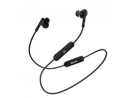 Baseus S30 sportovní bezdrátové sluchátka bluetooth BT 5.0 černé NGS30-0A