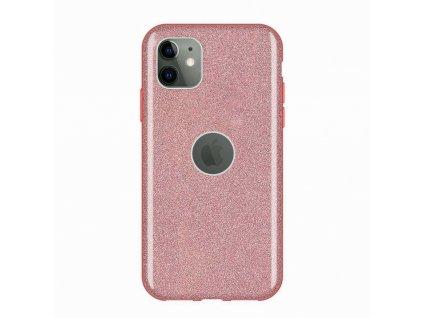 Pouzdro Glitter Case pro iPhone 11 růžové