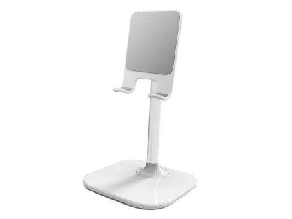 Stolní držák na tablet / mobilní telefon bílý