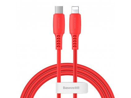 Baseus Colorful kabel USB-C PD / Apple Lightning 1,2m / 18W červený CATLDC-09