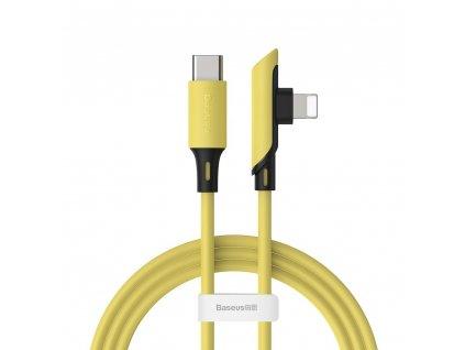 Baseus Colorful side plug kabel USB-C PD / Apple Lightning 1,2m / 18W žlutý CATLDC-A0Y
