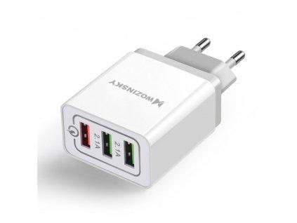 Wozinsky univerzální nabíječka 3x USB / QC 3.0 / 30W