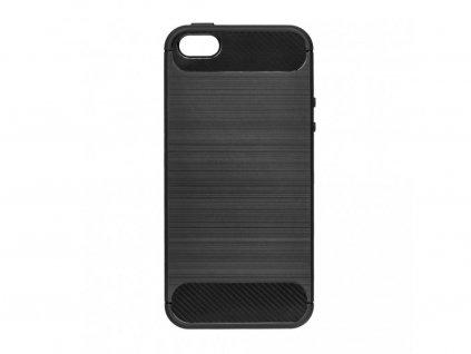 Pouzdro Carbon Case pro iPhone 5 / 5S / SE černé