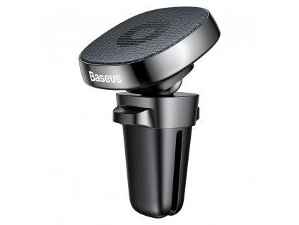 BASEUS SUMQ-PR01 držák do mřížky ventilátoru magnetický, černý kožený