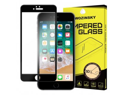 """Wozinsky ochranné tvrzené sklo pro iPhone 6 / 6S (4.7"""") 5D zahnuté černé 7426825338372"""