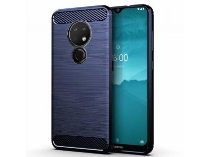 Pouzdro Carbon Case pro Nokia 6.2 / 7.2 modré