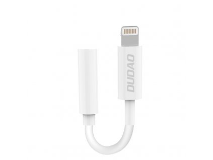 Dudao L16i adaptér Apple Lightning / 3,5mm jack bílý