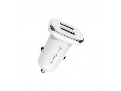 Borofone BZ12 nabíječka do auta 2x USB / 2,4A bílá