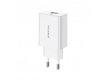Borofone BA21A USB nabíječka QC 3.0 bílá