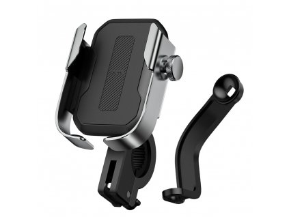 Baseus SUKJA-0S univerzální držák mobilu na kolo / motocykl stříbrný