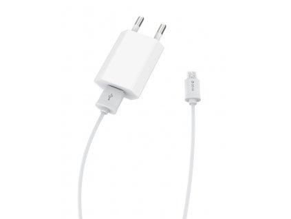 Nabíječka DEVIA SMART s kabelem Micro USB 1A bílá