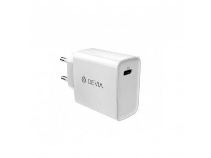 Nabíječka DEVIA SMART s výstupem USB-C PD bílá 18W