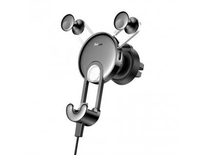 BASEUS YY Gravity držák do mřížky ventilátoru + kabel iPhone lightning - stříbrný SULYY-0S