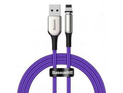 Baseus Zinc II magnetický USB kabel - iPhone lightning 2m / 1,5A fialový CALXC-I05