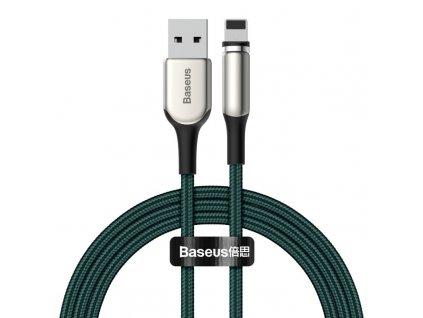 Baseus Zinc II magnetický USB kabel - iPhone lightning 2m / 1,5A zelený CALXC-I06