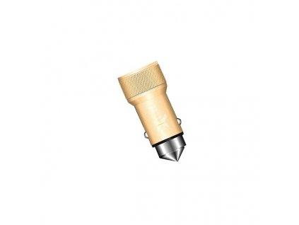 iXtech IX-35 USB nabíječka do auta 2x USB / 3,1A zlatá