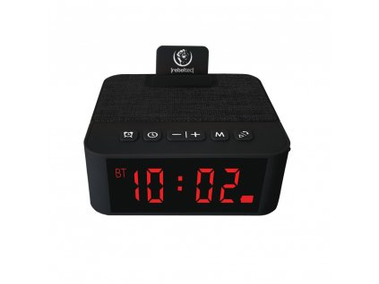 Rebeltec Multifunkční reproduktor s hodinami / FM / AUX / budík černý