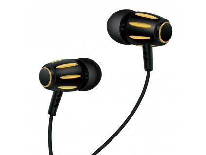 XO S29 handsfree sluchátka s kabelem a ovladačem 3,5mm jack - zlaté