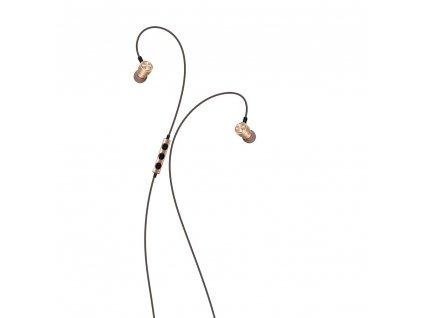 XO S9 handsfree sluchátka s kabelem a ovladačem 3,5mm jack - zlaté