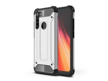 Hybrid Armor Case odolné pouzdro pro Xiaomi RedMi NOTE 8 stříbrné