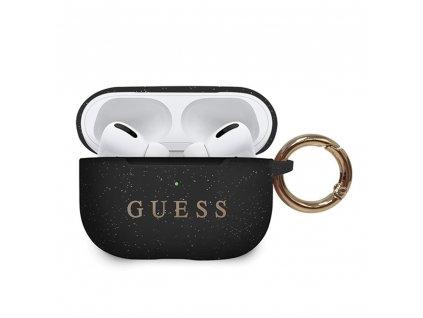 Guess silikonové pouzdro pro Apple AirPods PRO černé GUACAPSILGLBK