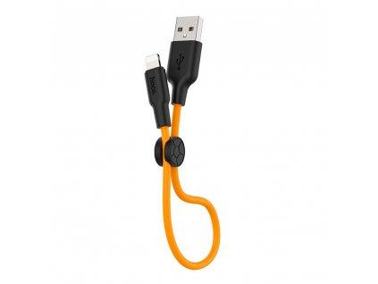 HOCO X21 USB kabel - iPhone lightning 0,25m / 2,4A černá / oranžová